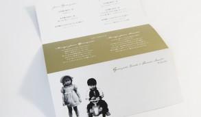 ウェディングのプロフィールカードデザイン